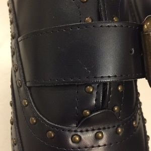 Marc Fisher Shoes - Marc Fisher Bryleigh navy studded loafers, Sz 7
